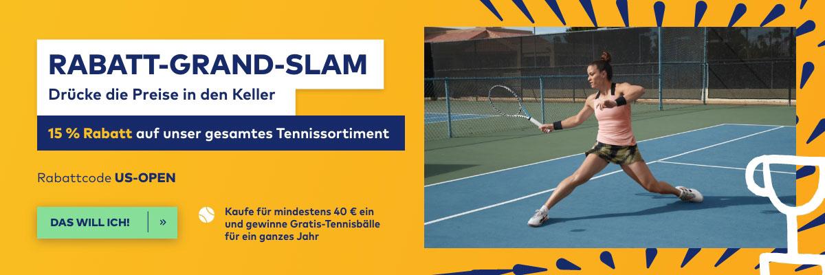 15 % Rabatt auf Tennisausrüstung