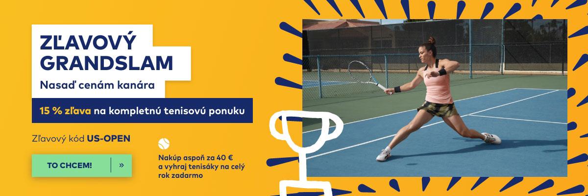 15 % zľava na tenis