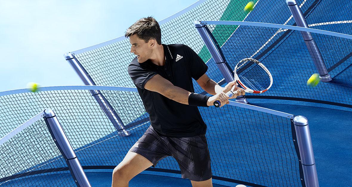 Dominic Thiem a tenisové oblečenie adidas New York 2021